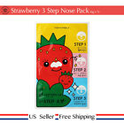 Tony moly Runaway Strawberry Seeds 3 Step Nose Pack  1~10 sheets + Free Sample