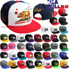 CALI Baseball Cap California Republic Bear Snap back Hats Flat Bill Embroidery