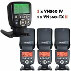 YONGNUO YN-560 IV Wireless Speedlite Flash + YN560-TX II Trigger For Canon US
