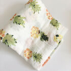 "Baby Swaddle Blanket 100% Cotton 47"" 47"" Baby Sleeping Swaddle Muslin Wrap Z"