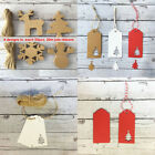 100Pcs New Christmas Tree Craft Paper Gift Tags Luggage Label & 20M Jute Strings