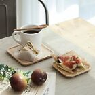 Drink Coaster Drinks Coasters Wood Beer Glass Wooden Coffee Cup Cake Plate Small