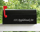 """Set of 2 - 11""""  Custom Mailbox Decals Sticker Street Numbers 12 Fonts Available"""