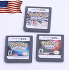 HOT Pokemon Platinum+Pearl+Diamond 3PCS Game card For Nintendo NDS DS DSI