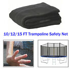 10'/ 12'/15FT Trampoline Safety Net Round Frame Fence Arch Enclosure Replacement