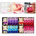 12Pcs Romantic Rose Soap Flower Little Cute Bear Valentine's Day Mother Gift