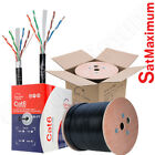 OUTDOOR Cat6 Cable 500ft 1000ft Ethernet 23AWG UTP FTP Solid Bulk Direct Burial