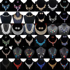 Fashion Charm Women Jewelry Crystal Choker Chunky Statement Bib Pendant Necklace