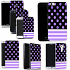 pattern case for many Mobile phones purple polka stripe