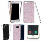 Shockproof 360° Silicone Clear case cover for many mobiles - design ref zx0458