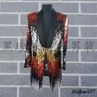 Stylish Mens Blazers Coats Glitter Sequin Multi-Color Bling Dress Show Party New