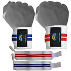"""AQWA Weight Lifting Wrist Support Wraps Gym Power Training Bandages Straps 13"""""""