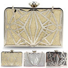 Ladies Handheld Geometric Metal Clutch Designer Women Wedding Prom Evening Bags