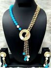 Indian Ethnic Bollywood Gold Tone Wedding Fashion Pearl Jewelry Necklace Set