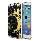For Various Phones Design Hard Back Case Cover Skin - Black Gold Marble