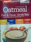 Instant Oatmeal Fruit Cream Variety Pack Breakfast/10 Packets