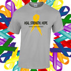 Appendix Cancer Awareness Shirt Cancer Awareness Amber Ribbon T Shirt