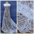 New fashion style off white/black sequins net wedding dress lace fabric 51''