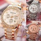Geneva Luxury Women Watches Stainless Steel Crystal Fashion Quartz Wrist Watch