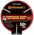 50 FT Commercial Grade Rubber Red Hot Water Hose Heavy Duty Kink Resistant NEW