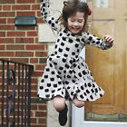 Girl Baby Dress Cartoon Black Cat Pattern Tight Skirt Birthday TUTU Dress hot