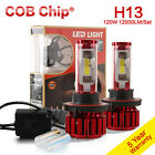 H13 H4 120W 12000LM CREE LED Headlight Kit High/Low Beam Bulbs 6000K 8000K Tubes