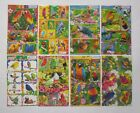 Birds and Parrots Glitter Sticker Sheet 4x6'' (10x15cm)