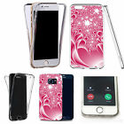 Shockproof 360° Silicone Clear case cover for many mobiles - design ref zx0356