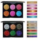 6 Colors Diamond Glitter Eye Shadow Sequins MakeUp Cosmetic Pressed Palette Set