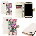 pu leather wallet case for majority Mobile phones - pink dreamcatcher white