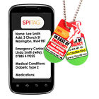 SPItag ID Necklace Sends SMS SOS Text Alert To Family In Case of Emergency* PY