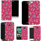hard durable case cover for most mobile phones - pink blossoming floral