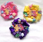 Beautiful Care Bear Girls hair Bow clips,3 designs, Handcrafted.