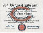 CHICAGO BEARS, FOOTBALL  FAN ~ CERTIFICATE ~ MAN CAVE~  DA BEARS MUST HAVE #1