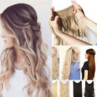 "24"" Hidden Secret Wire Invisible Hair Extensions Curly Wavy As Human Remy Hair"