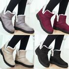 Womens Ladies Winter Warm Fur Lined Ankle Boots  Combat Flat Grip Sole Shoes