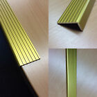 Gold Anodised Aluminium Fluted Angle / Edge Trim / Nose Edge 43.6mm x 21.4mm