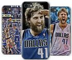 Dirk Nowitzki Dallas Basketball German Rubber Phone Cover Case fits Apple iPhone