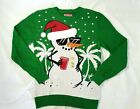 Jem Holiday Ugly Christmas Sweater Snowman Jingle Bells For Men