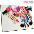 E095 makeup brushes lipstick fashion  Canvas Wall Art Framed Picture Print