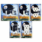 NFL - Pittsburgh Steelers - Light Switch Covers Home Decor Outlet on eBay