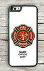 FIREFIGHTERS LOGO PERSONALIZED #2 CASE FOR iPHONE 6 6S or 6 6S PLUS -ghw3Z