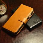 NEW LUXURY LEATHER WALLET CASE COVER FOR APPLE IPHONE 5 5S 6 6S SE BROWN/BLACK