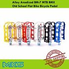 MKS BM-7 Pedal Alloy Anodized for MTB BMX Old School Flat Bike Bicycle Pedals