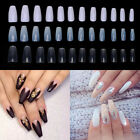 3 Color Full Cover False Nail Art Tip Long Ballerina Coffin Shape Pack of 600
