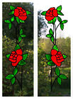Trailing Roses Stained Glass Effect Window Decor Cling