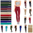 Women Warm Winter Solid Fleece Lined Leggings Winter Thick Full Length One Size