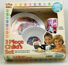GO BOT 3 Piece Child's Set (Plate, Bowl, Cup) (Deka, 1982) New in Package