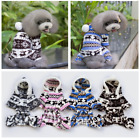 Dog Warm Winter Hoodie Jumpsuit Soft Coat Clothes Pet Puppy Sweater Elk Pajamas