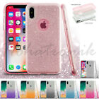 For Apple iPhone X 10 Hybrid Bling Glitter Rubber TPU Protective Soft Case Cover $7.07 USD